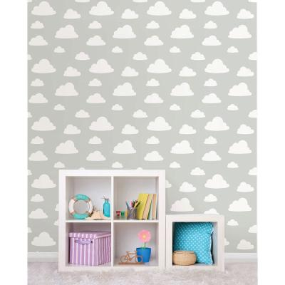 Grey Clouds Peel and Stick Wallpaper Sample