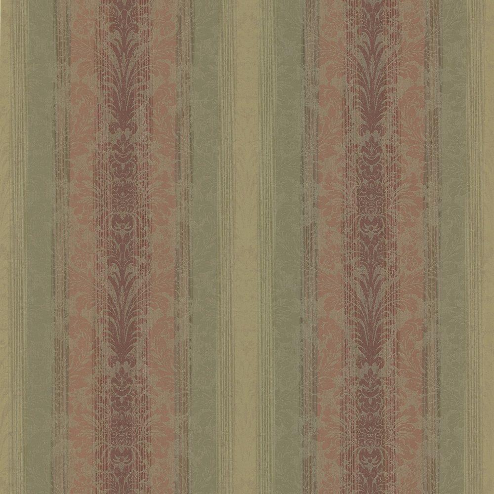 Brewster 56 sq. ft. Stripe Damask Wallpaper