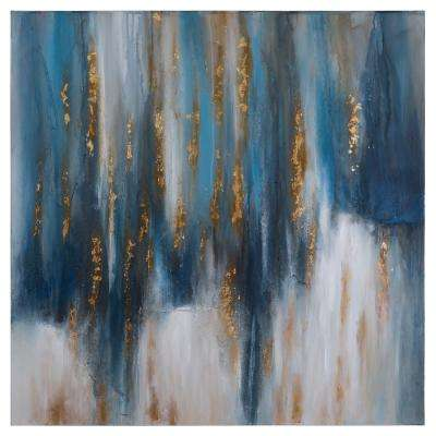 40 in. H x 40 in. W Drowning Strokes Artwork in Canvas