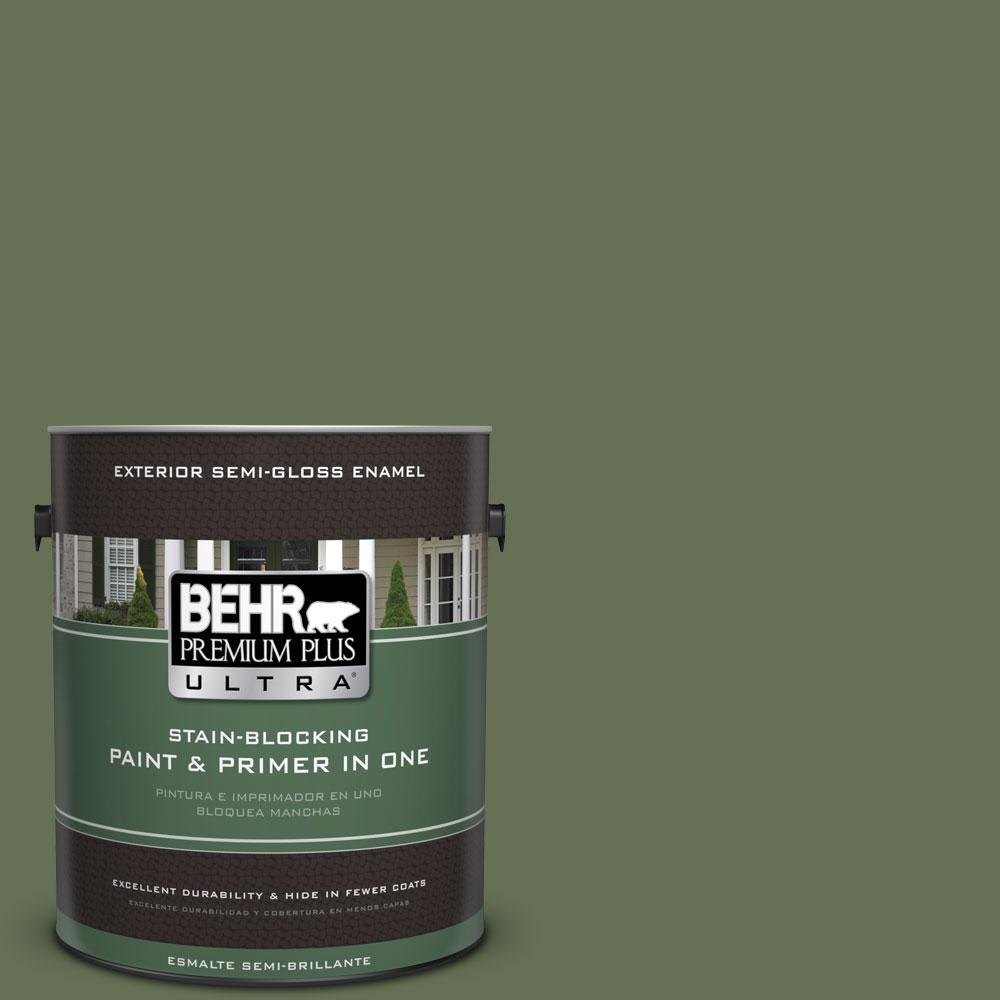 1-gal. #PMD-46 French Tarragon Semi-Gloss Enamel Exterior Paint