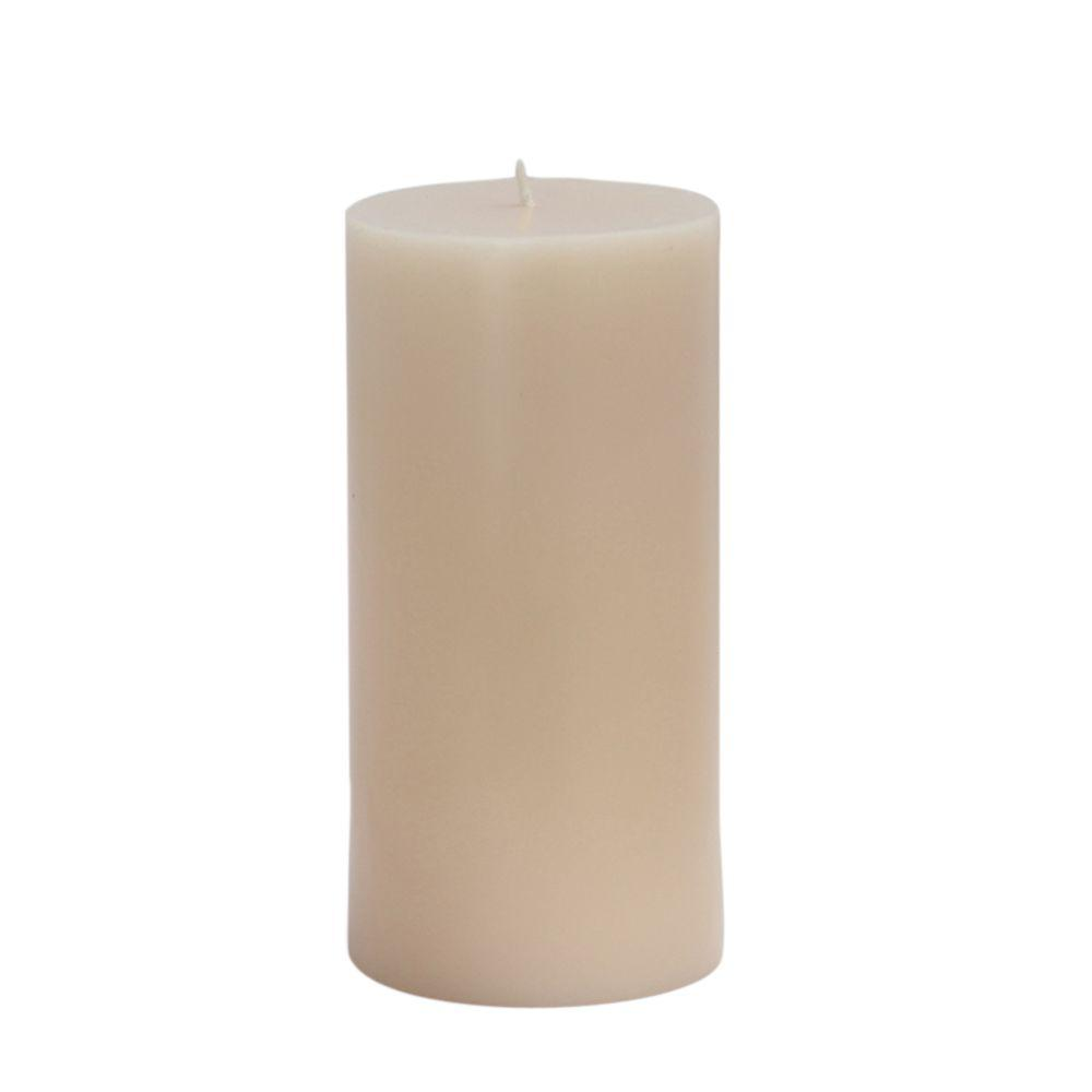 Zest Candle 3 in. x 6 in. Ivory Pillar Candles Bulk (12-Case)