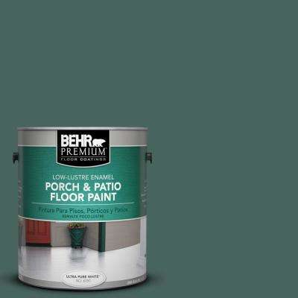 1 gal. #S430-7 Blue Fir Low-Lustre Porch and Patio Floor Paint