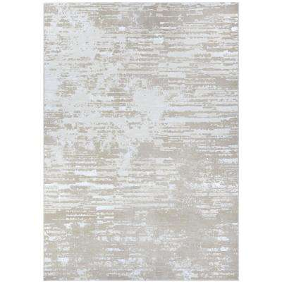Serenity Cryptic Beige-Champagne 5 ft. x 8 ft. Area Rug