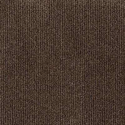 Inspirations Espresso Ribbed Texture 18 in. x 18 in. Carpet Tile (16 Tiles/36 sq. ft. /case)