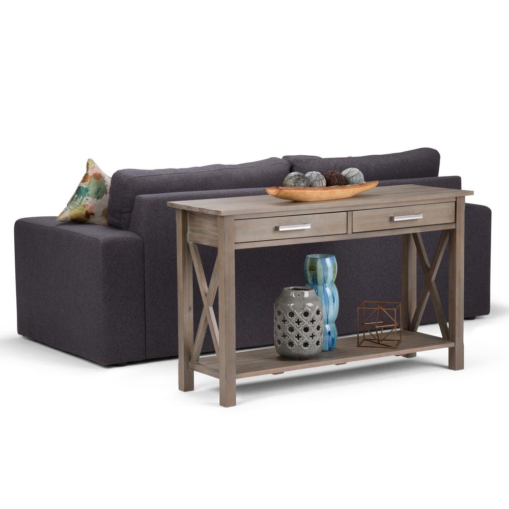 Outdoor Patio Furniture Kitchener: Simpli Home Kitchener Distressed Grey Storage Console