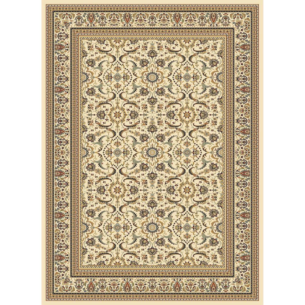 Concord Global Trading Williams Collection Izmir Ivory 6 ft. 7 in. x 9 ft. 6 in. Area Rug
