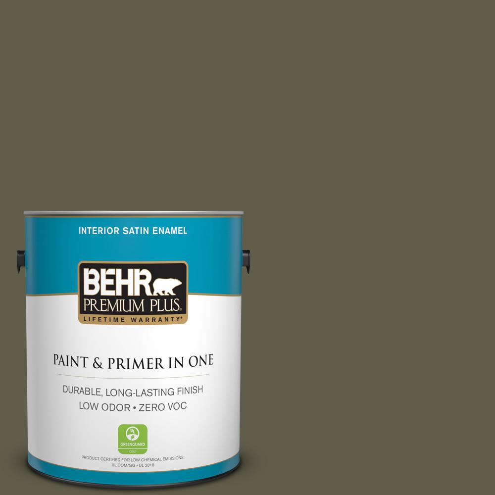 1 gal. #PPU9-01 Alligator Skin Zero VOC Satin Enamel Interior Paint