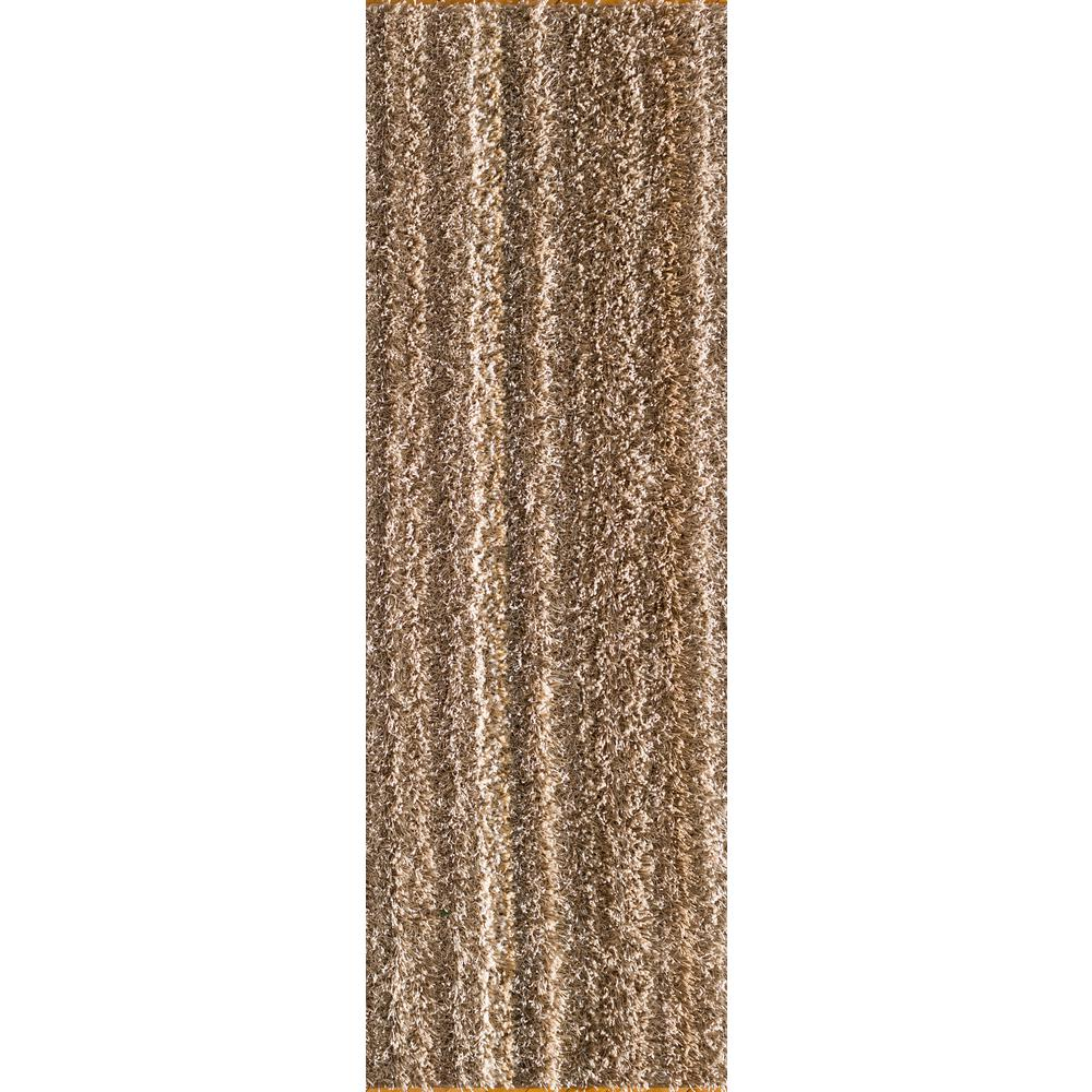 Natco Upcycle Shag Earth 2 ft. x 5 ft. Runner Rug