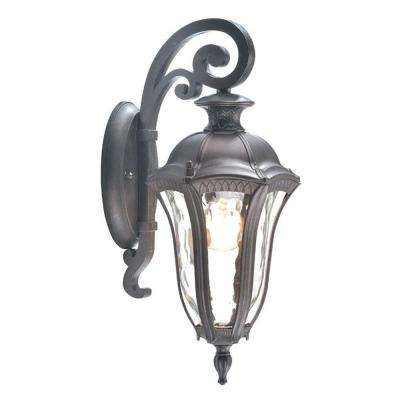 Sutton Collection 1-Light Antique Brown Outdoor Wall Lantern