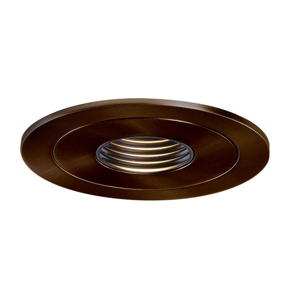 Low-Voltage 4 in. Tuscan Bronze Recessed Ceiling Light Pinhole Trim with