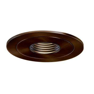 Low-Voltage 4 in. Tuscan Bronze Recessed Ceiling Light Pinhole Trim with Black Baffle