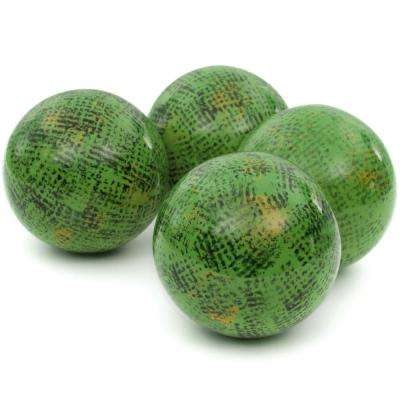 Oriental Furniture 4 in. Sponged Green Porcelain Ball Set