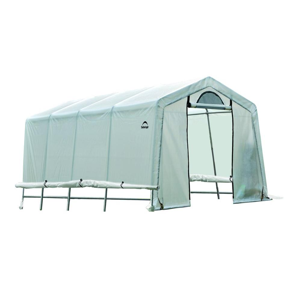 Shelterlogic Greenhouse 10 10 : Greenhouse replacement cover kit ft roll up side