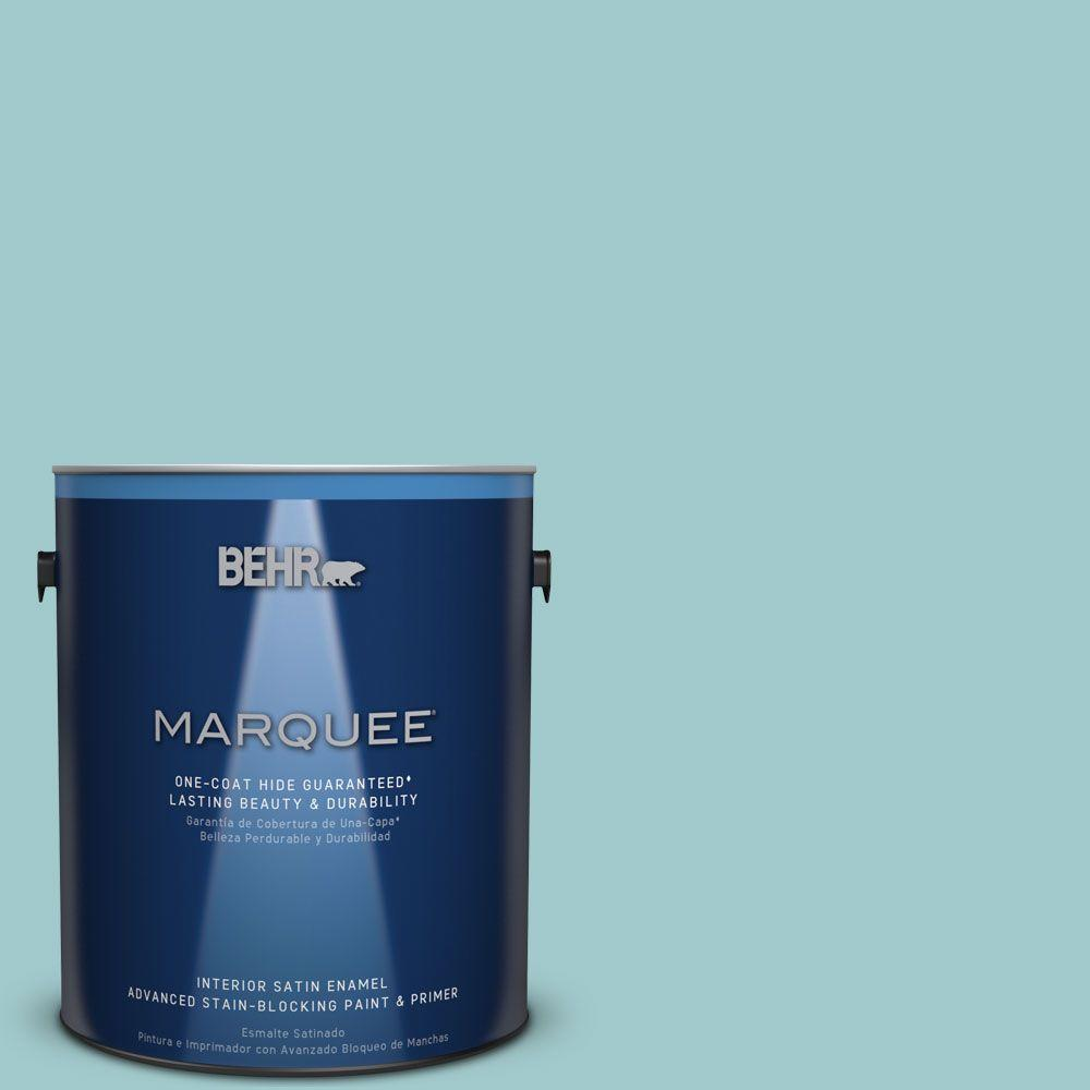 1 gal. #HDC-SP16-08 Blue Bell Satin Enamel Interior Paint