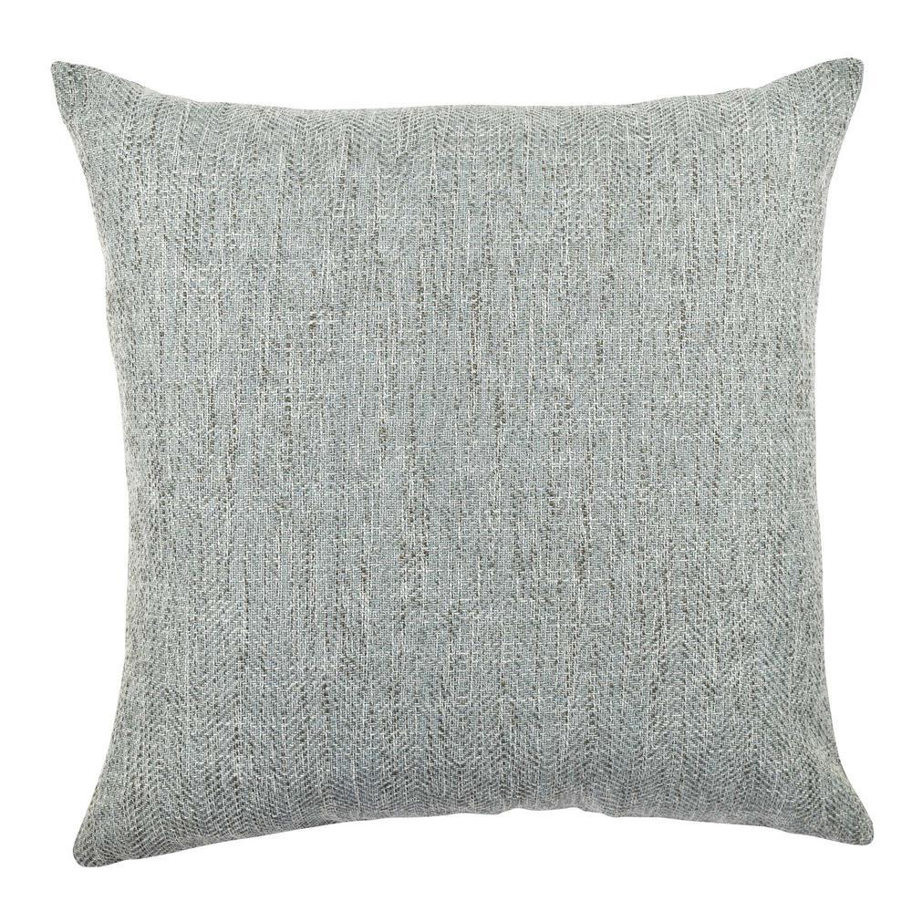 Light Blue Chenille Designer Throw Pillow