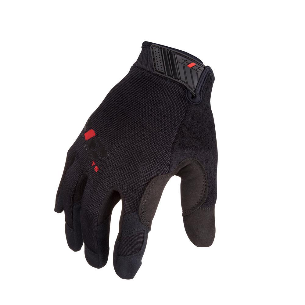 Mechanic Touchscreen Compatible Work Gloves, Black