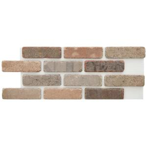 Brickwebb Promontory Thin Brick Sheets - Flats (Box of 5 Sheets) - 28 in. x 10.5 in. (8.7 sq. ft.)