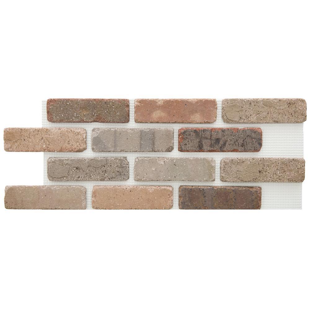 Brickwebb Promontory Thin Brick Sheets - Flats (Box of 5 Sheets) - 28 in. x 10.5 in. (8.7 sq. ft.)