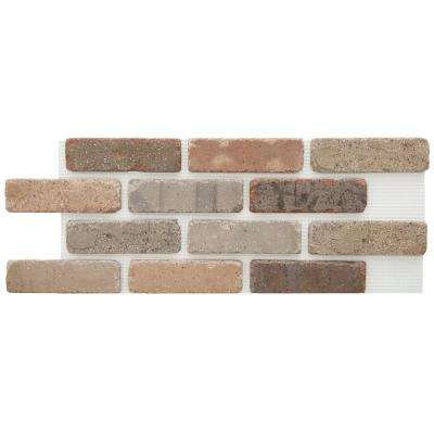 Brickweb Promontory 8.7 sq. ft. 28 in. x 10-1/2 in. x 1/2 in. Clay Thin Brick Flats (Box of 5)