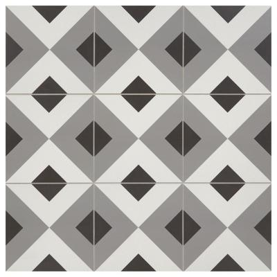 Modern Renewal Geo Diamond 12 in. x 12 in. Glazed Porcelain Floor and Wall Tile (14.55 sq. ft. / case)