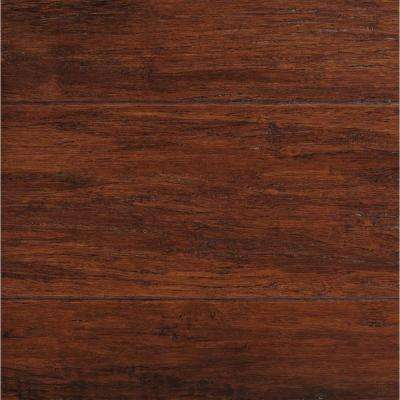 Take Home Sample - Hand Scraped Strand Woven Brown Solid Bamboo Flooring - 5 in. x 7 in.