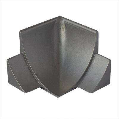 External Angle NS4 Natural 1-1/2 in. x 1-1/2 in. Complement Stainless Steel Tile Edging Trim