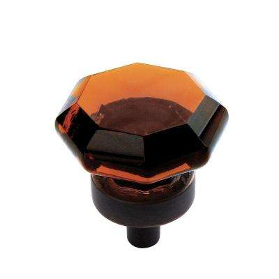Traditional Classics 1-1/16 in (27 mm) Diameter Amber/Oil-Rubbed Bronze Cabinet Knob