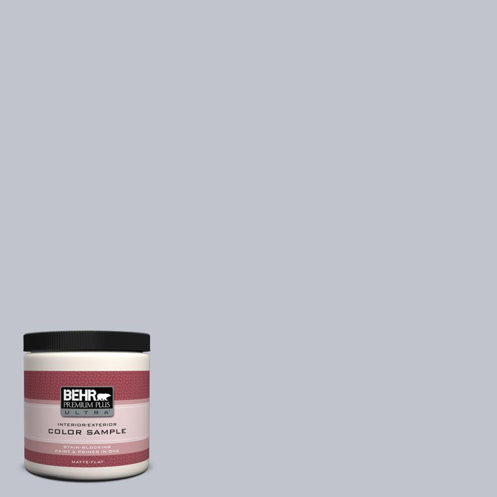 BEHR Premium Plus Ultra 8 oz. #N540-2 Glitter Flat Interior/Exterior Paint and Primer in One Sample