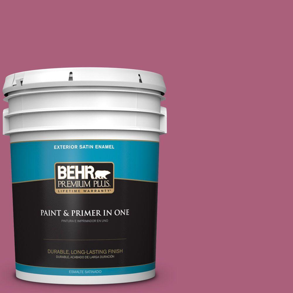 BEHR Premium Plus 5-gal. #T13-1 Daah-Ling Satin Enamel Exterior Paint