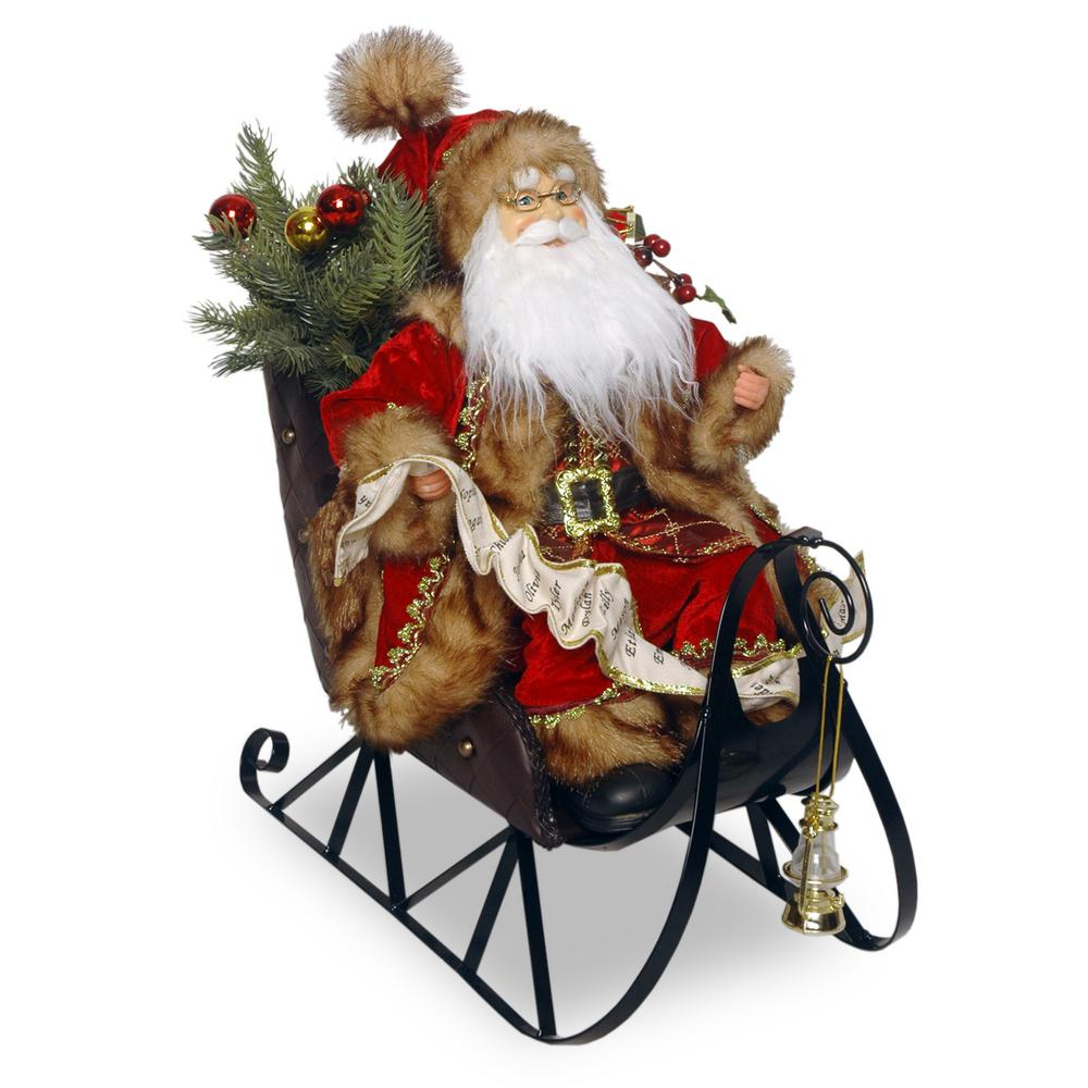 National tree company in plush collection santa on