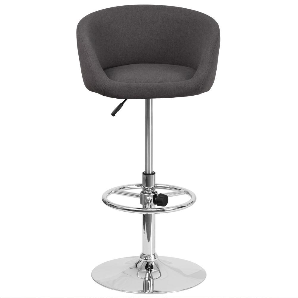 Flash Furniture 32 in. Adjustable Height Black Cushioned Bar Stool