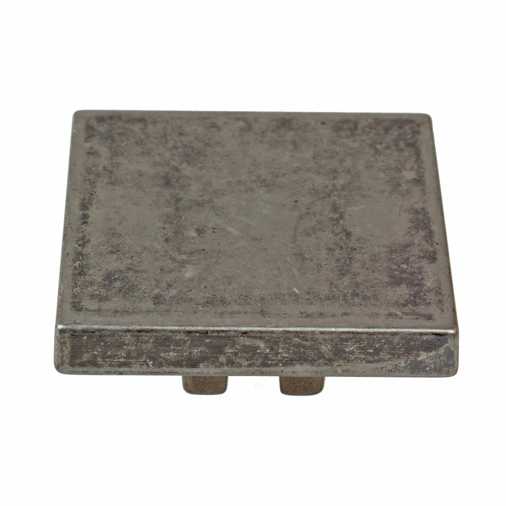 Weathered Nickel Thin Square Cabinet 10