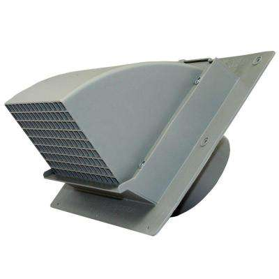 6 in. Heavy Duty Gray Plastic Wall Cap