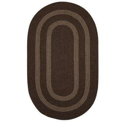 Paige Rusted Brown 5 Ft. X 8 Ft. Braided Oval Area Rug