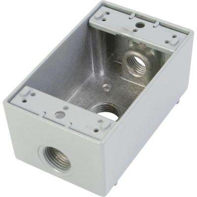 White Weatherproof Boxes Electrical Boxes Conduit Fittings