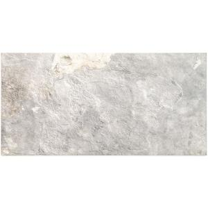 Bantame Silver 12 in. x 24 in. x 10.5mm Semi-Polished Porcelain Floor and Wall Tile (8 pieces / 15.92 sq. ft. / box)