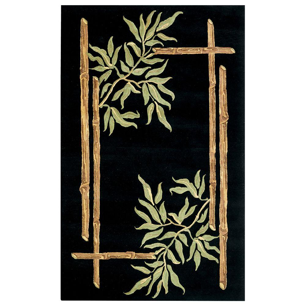 Home Decorators Collection Bamboo Black 5 ft. 3 in. x 8 ft. 3 in. Area Rug