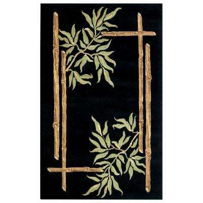 Bamboo Black 8 ft. x 11 ft. Area Rug