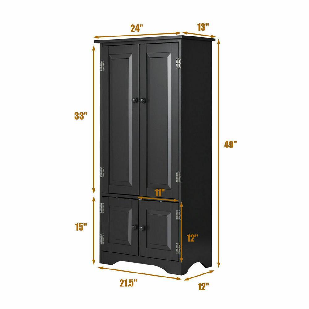 Costway Accent Black Storage Cabinet