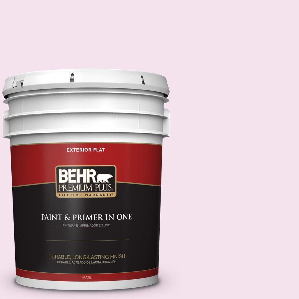 BEHR Premium Plus 5-gal. #690C-2 Pink Amour Flat Exterior Paint