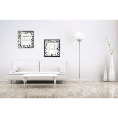 24 in. x 24 in. Square Frameless Wall Mirror with Black and White Embedded Border