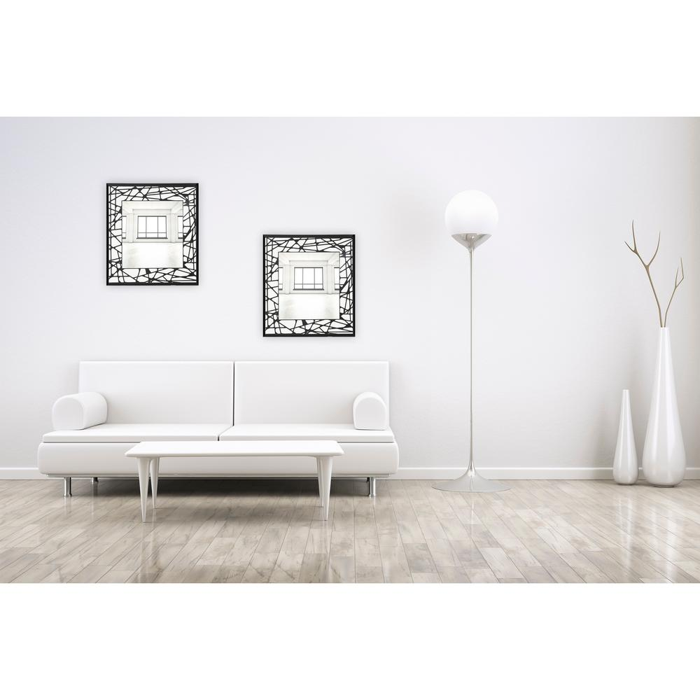 Breeze Point 24 In X 24 In Square Frameless Wall Mirror With Black