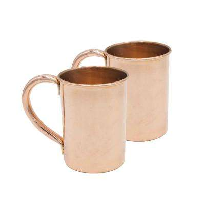 Classic 20 oz. Extra Thick Pure Solid Copper Moscow Mule Mug (Set of 2)
