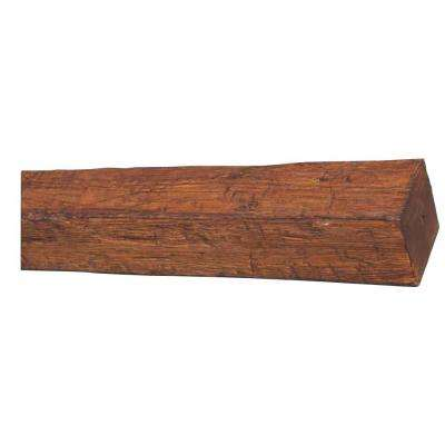 5-7/8 in. x 5-7/8 in. x 11 ft. 6 in. 4-Sided Rustic Faux Wood Beam