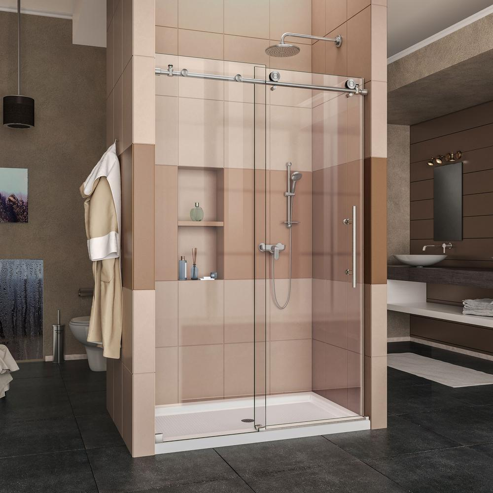 Enigma-X 44 in. to 48 in. x 76 in. Frameless Sliding & Bar - Shower Doors - Showers - The Home Depot pezcame.com
