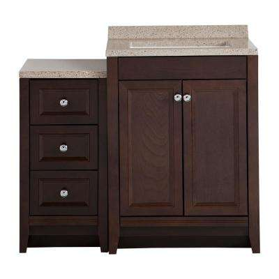Delridge Bath Suite with 24 in. W Bathroom Vanity, Vanity Top, and Linen Tower in Chocolate