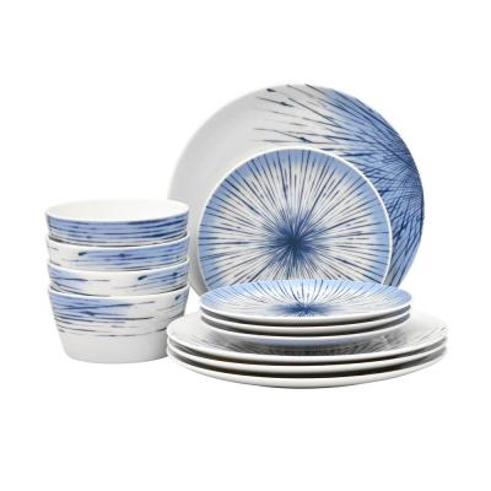 Hanabi 12-Piece Porcelain Dinnerware Set