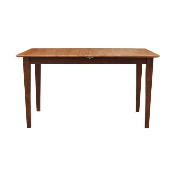 Cinnamon and Espresso Extendable Butterfly Leaf Dining Table