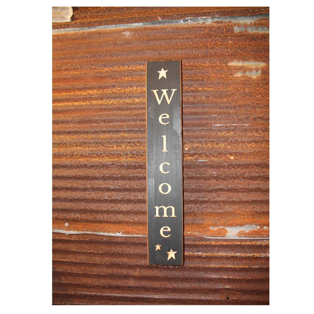 Norwall Welcome Decorative Wood Sign W24028w The Home Depot