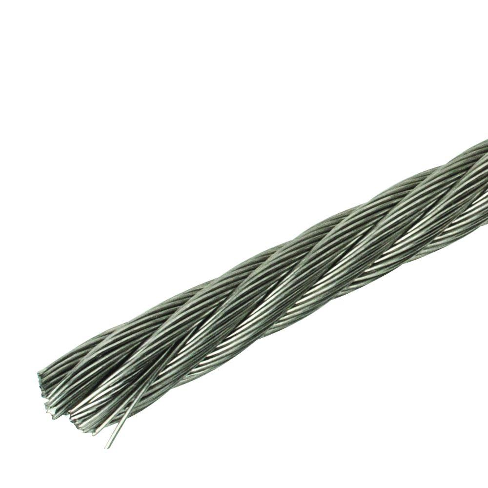 1/4 in. x 150 ft. Stainless Steel Uncoated Wire Rope
